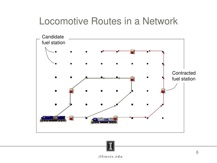 Locomotive Routes in a Network