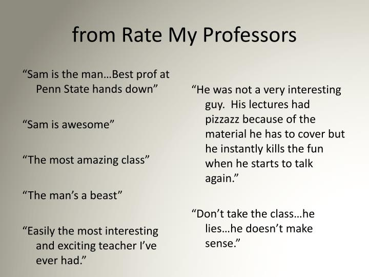 from Rate My Professors
