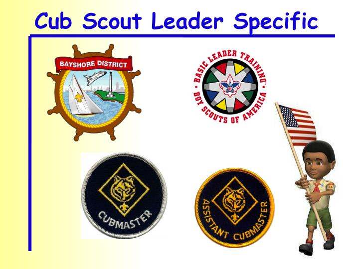 Cub Scout Leader Specific