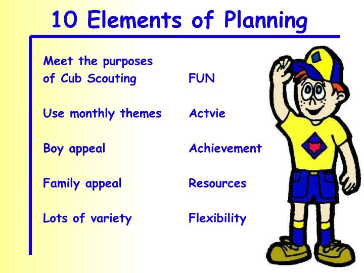 10 Elements of Planning