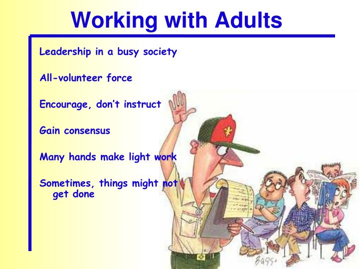 Working with Adults