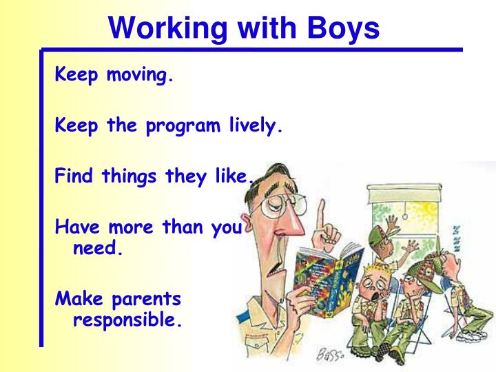 Working with Boys