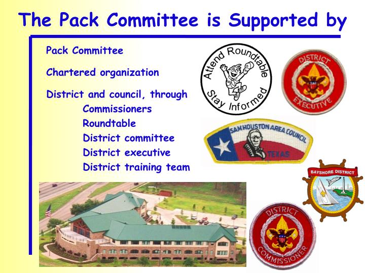 The Pack Committee is Supported by