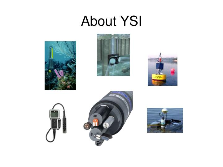 About YSI
