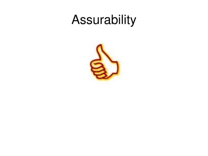 Assurability