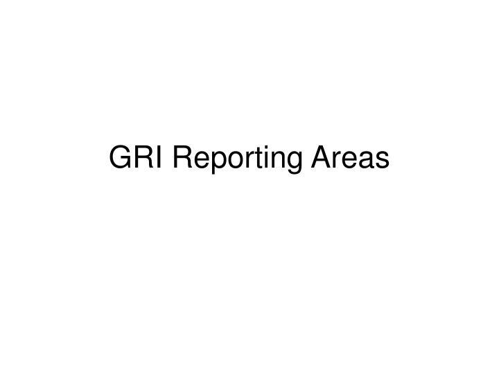 GRI Reporting Areas