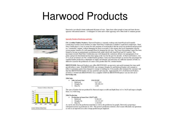 Harwood Products
