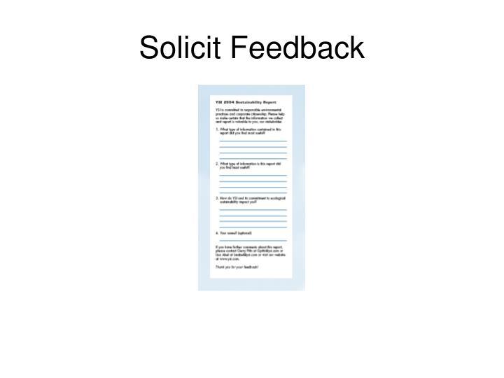 Solicit Feedback