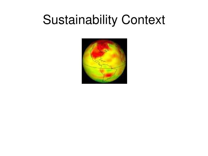 Sustainability Context