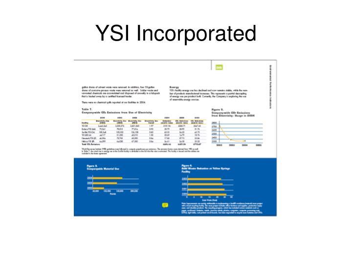YSI Incorporated