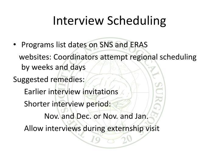Interview Scheduling
