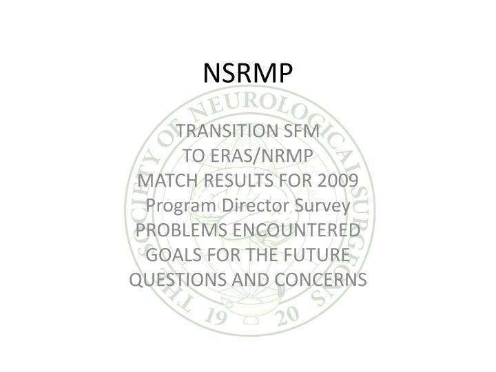 NSRMP