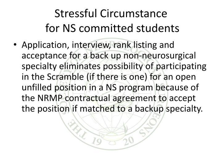 Stressful Circumstance
