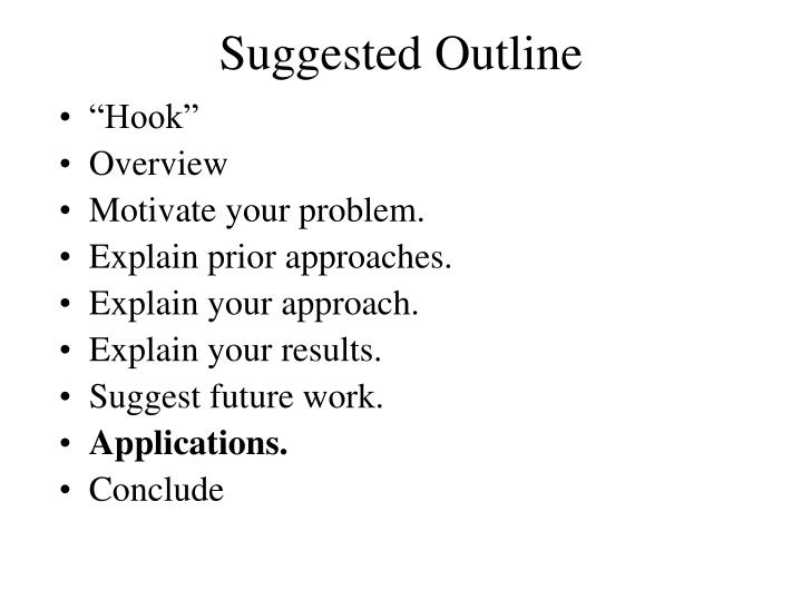 Suggested Outline