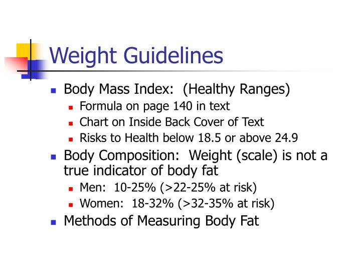 Weight Guidelines