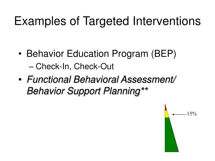 Examples of Targeted Interventions