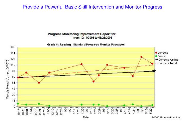 Provide a Powerful Basic Skill Intervention and Monitor Progress