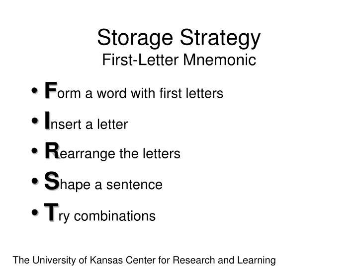 Storage Strategy