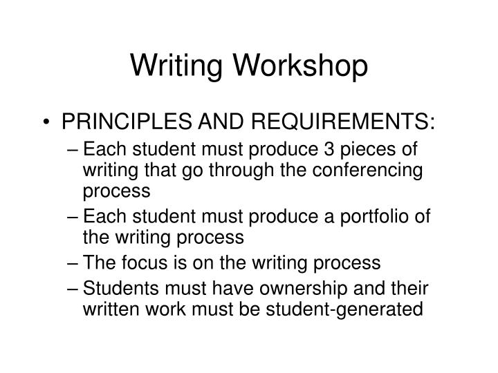 Writing Workshop