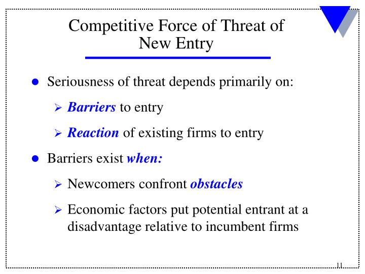 Seriousness of threat depends primarily on: