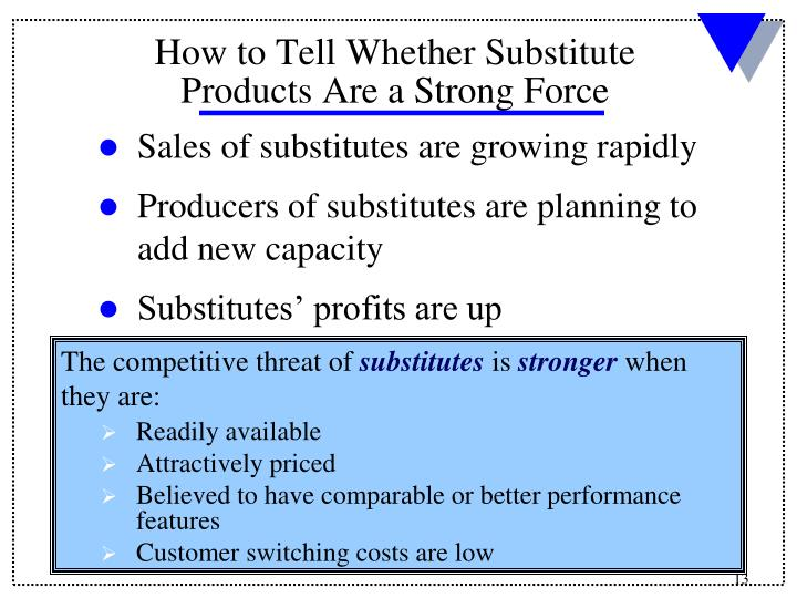 Sales of substitutes are growing rapidly