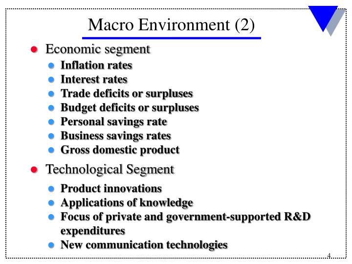 Macro Environment (2)