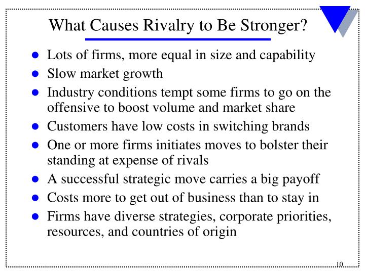 Lots of firms, more equal in size and capability