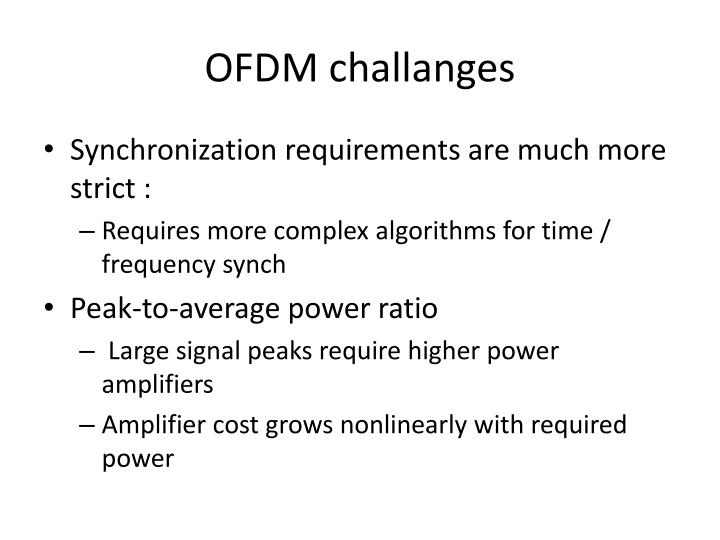 OFDM challanges
