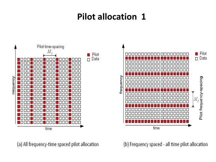 Pilot allocation  1