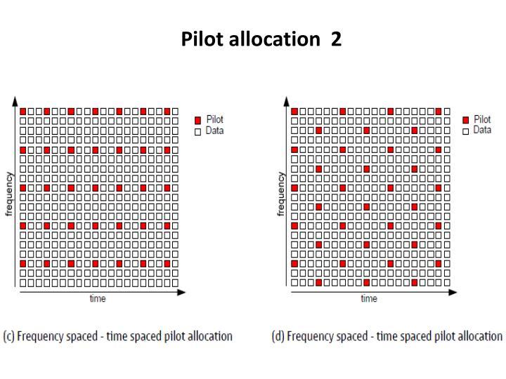 Pilot allocation  2