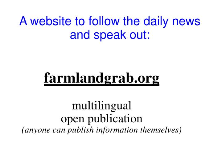 A website to follow the daily news and speak out:
