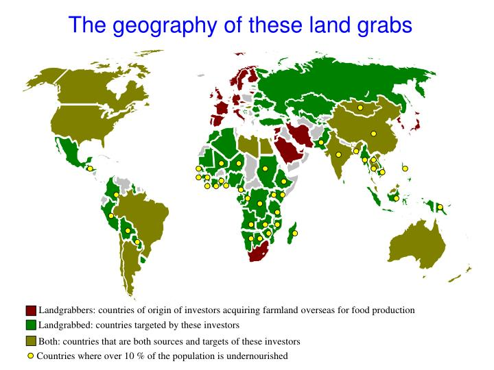 The geography of these land grabs