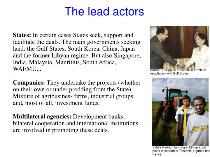 The lead actors