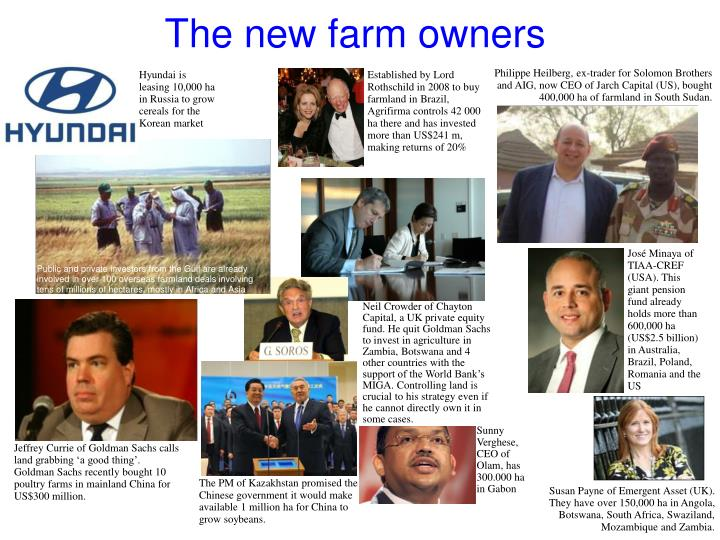 The new farm owners
