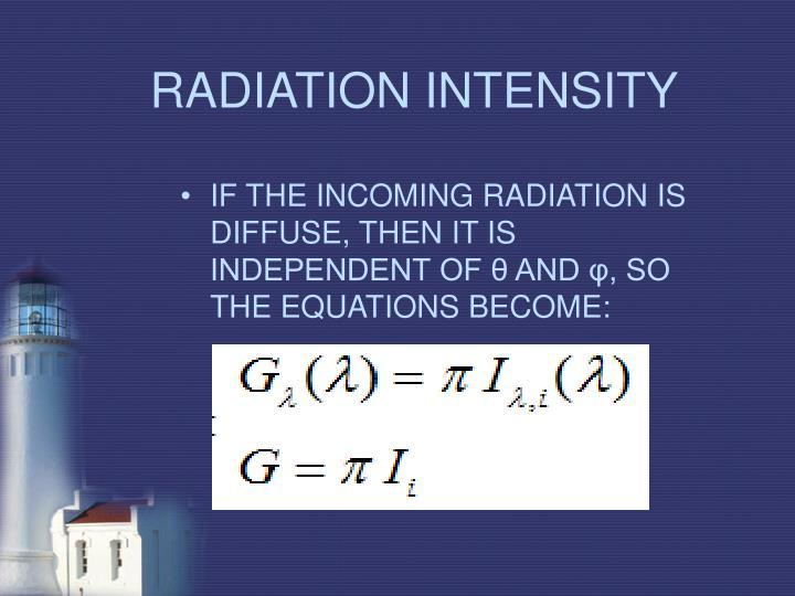 RADIATION INTENSITY