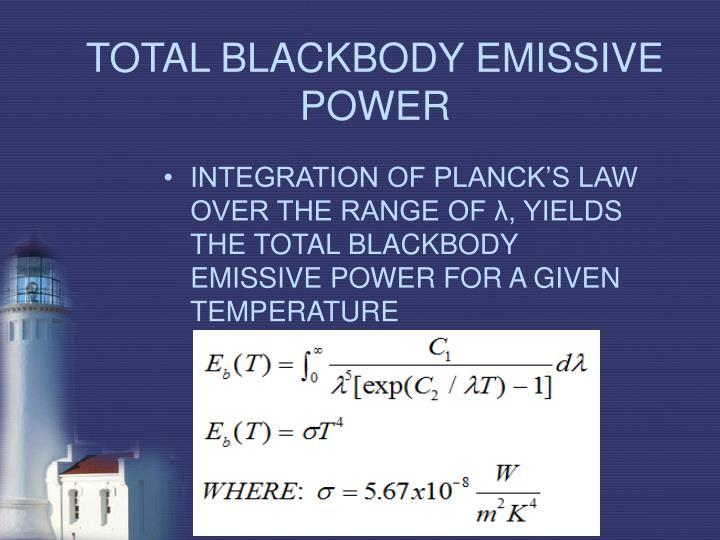 TOTAL BLACKBODY EMISSIVE POWER