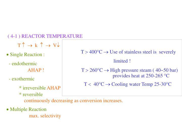 ( 4-1 ) REACTOR TEMPERATURE