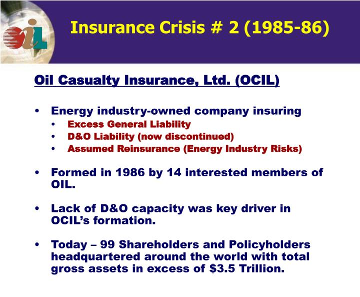 Insurance Crisis # 2 (1985-86)