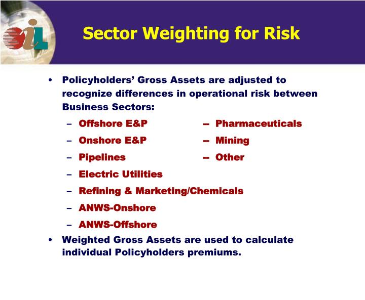 Sector Weighting for Risk