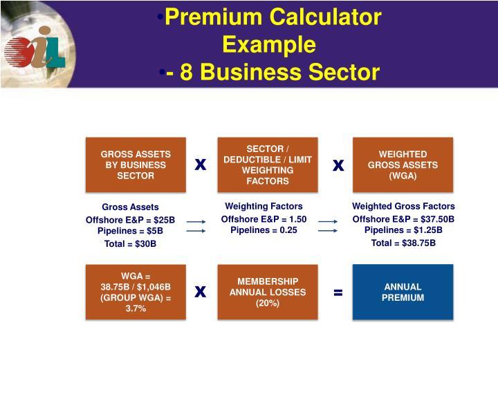Premium Calculator Example