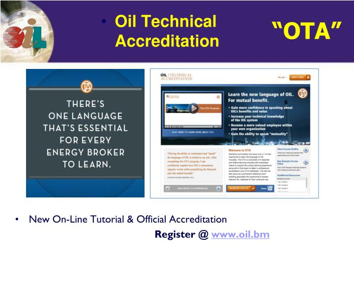 New On-Line Tutorial & Official Accreditation