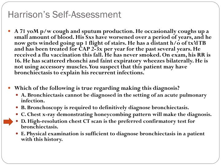 Harrison's Self-Assessment