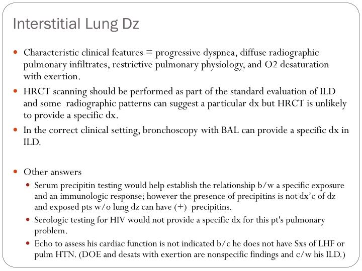 Interstitial Lung Dz