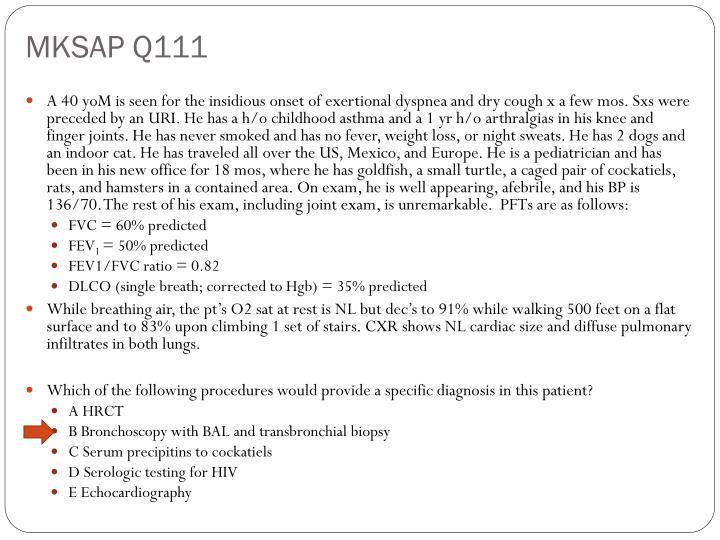 MKSAP Q111
