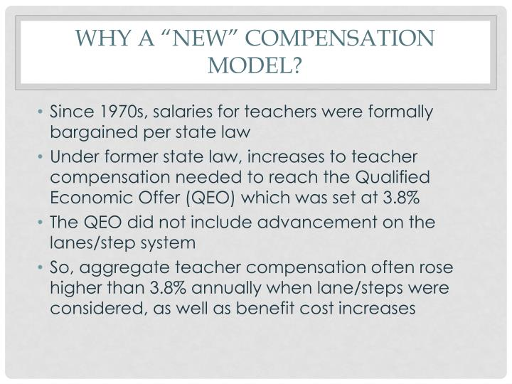 Why a new compensation model