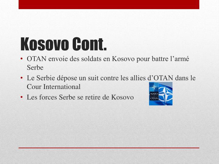 OTAN envoie des soldats en Kosovo pour battre l'armé Serbe