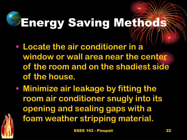 Energy Saving Methods