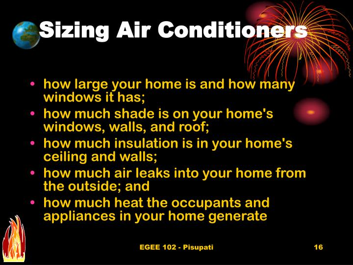 Sizing Air Conditioners