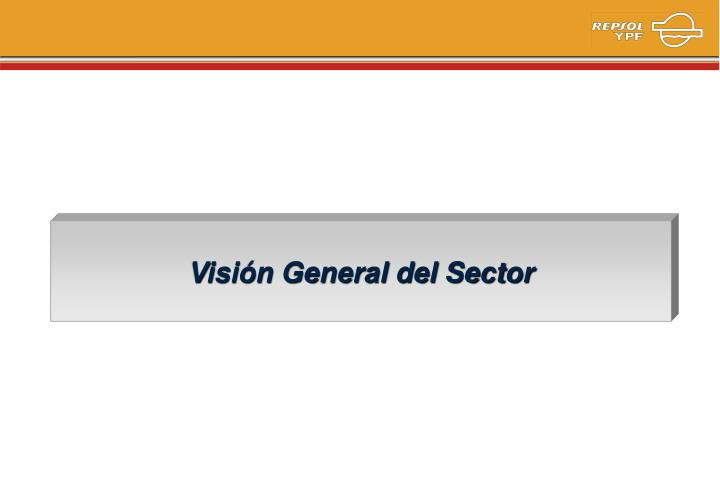 Visión General del Sector