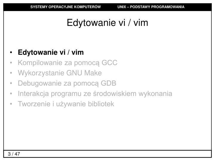 Edytowanie vi / vim